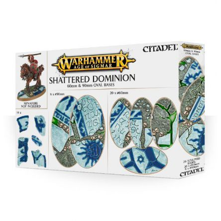 Shattered Dominion: socles ovales de 60 et 90mm