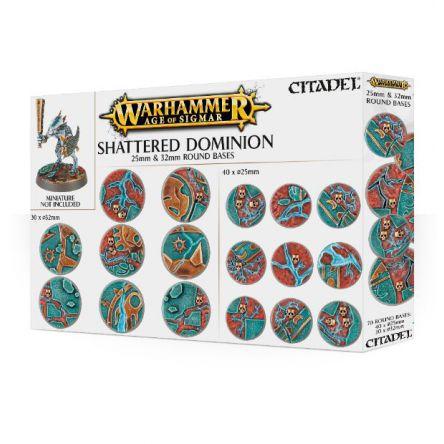Shattered Dominion: socles ronds de 25 et 32mm