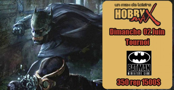 Illustration de l'évènement Tournoi Batman Miniature Game